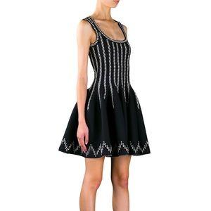 Alaïa Paris Striped Sleeveless Flared Dress